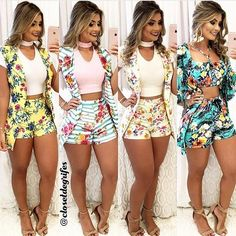 Pin by Dmagen Magem on conjunto dmargem in 2019 Cute Summer Outfits, Short Outfits, Classy Outfits, Sexy Outfits, Cute Outfits, Style Casual, My Style, Teen Fashion, Womens Fashion