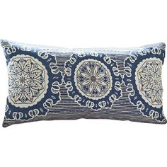 Bohemian flair for the modern space, the Medallion Throw Pillow from Rizzy Home brings traditional comfort with an ornate motif. Featuring a medallion and striped design in a blue hue, decorate both indoor and outdoor areas with rejuvenating tones. Pillow Set, Lumbar Pillow, Pillow Covers, Pillow Talk, Knot Pillow, Pillow Fight, Blue Pillows, Accent Pillows, Joss And Main