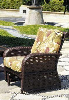 Martinique Glider Wicker Rocking Chair Couch Grey Baskets Rocker