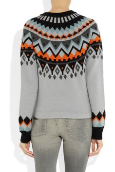 Proenza schouler intarsia wool and cashmere blend sweater net a