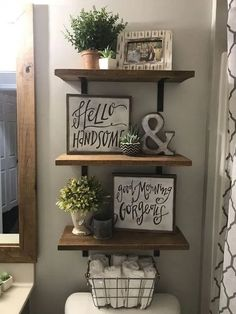 If You Read Nothing Else Today, Read This Report On Rustic Bathroom Diy Ideas Farmhouse Decor 25 - Home Professional Decoration Rustic Bathroom Decor, Farmhouse Decor, Bathroom Ideas, Farmhouse Ideas, Bathroom Organization, Bathroom Shelves, Bathroom Storage, Farmhouse Design, Organization Ideas