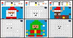 Fichas navideñas mejora de la atención, colorear por patrones de números y letras Colorea ayudándote de los números y de las letras para descubrir unos maravillosos motivos navideños Para descargar las imágenes pincha en...