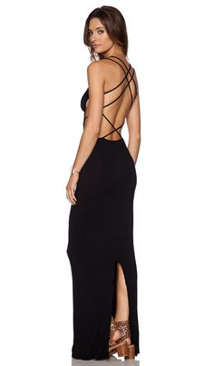 Indah Tamaa Maxi Dress in Black