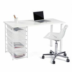 $151 on sale/ regularly 212 dollars/ 54x24x30/ other wood and metal colors available. White elfa Component Desk