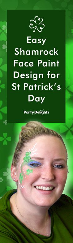 Find out how to do this easy St Patrick's Day face paint design with our quick step-by-step tutorial. Learn how to create a shamrock face paint design that's the perfect addition to your St Patrick's Day costume!