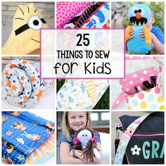 Here are 25 quick and easy sewing projects that can be sewn in under 10 minutes each. Easy patterns for sewing something that won't take you long to create.