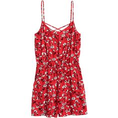 Jumpsuit mit kurzem Bein 14,99 (€9,10) ❤ liked on Polyvore featuring jumpsuits, rompers, dresses, playsuits, jumpsuit, red jumpsuit, romper jumpsuit, red rompers, red jump suit and red romper