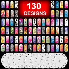 New nail art designsacrylic nail designs nail art ideas french gothobby 10 airbrush nail stencil sheet art design set pages 11 20 you prinsesfo Images