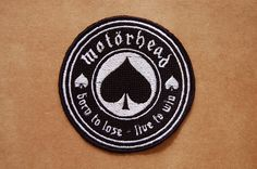 Patch 100% bordado. Acabamento manual. motorhead ace of spades. www.facebook.com/PatchesDonaRamona