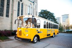 Rent the Georgia Tech Trolley for wedding day transportation!