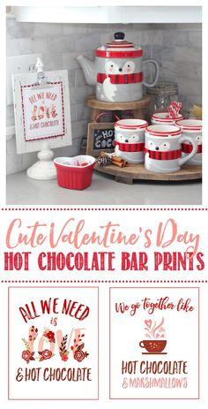 Hot Chocolate Bar -- What a cute Valentine's Day idea! I love how simple thi., DIY Hot Chocolate Bar -- What a cute Valentine's Day idea! I love how simple thi., DIY Hot Chocolate Bar -- What a cute Valentine's Day idea! I love how simple thi. Valentine Desserts, Hot Chocolate Bars, Chocolate Peanut Butter, Chocolate Recipes, Valentine's Day Quotes, Marshmallows, Kids Crafts, Cute Valentines Day Ideas, Valentines Art