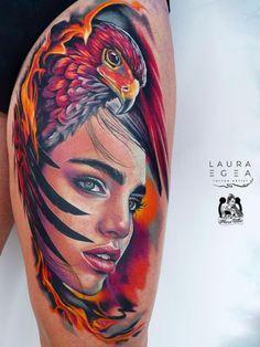 Leg Tattoos, Sleeve Tattoos, Cool Tattoos, Bird Artists, Colour Tattoo, Realism Tattoo, Tattoo Studio, Tattoo Artists, Watercolor Tattoo