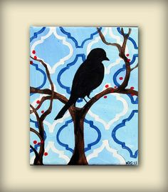 Abstract Bird Paintings | Small Bird Painting....Abstract Modern Art Great Gift Painting by HD ...