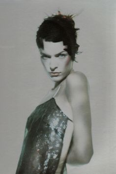 Milla Jovovich photographed by Paolo Roversi for Vogue Italia, March 1998 High Fashion Photography, Lifestyle Photography, Editorial Photography, Portrait Photography, Glamour Photography, Paolo Roversi, Milla Jovovich, Jean Paul Goude, Zeina