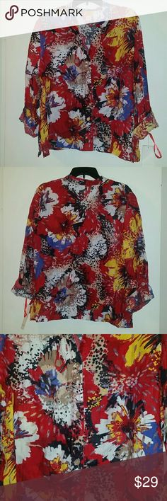 *NWT* Ruby Rd. Top *NWT* Ruby Rd. top, size 18. Would have to wear a shell up under because it is somewhat see through. Ruby Rd. Tops