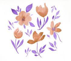Jelena Matriszenka #watercolor #illustration #watercolorillustration #flowers #flowersillustration #watercolorflowers #floral #cute