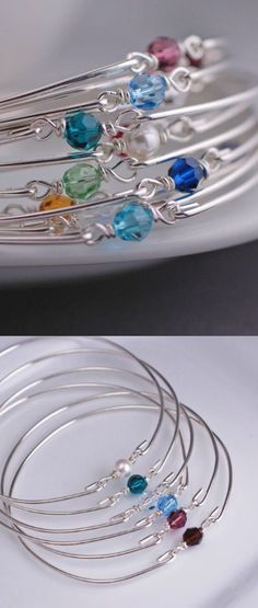 Fun Birthstone Bangles.                                                                                                                                                      More
