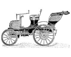 Free vintage clip art images: Vintage cars and coaches clip art
