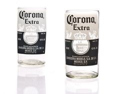 RECYCLED BEER BOTTLE GLASSES http://www.onegreenplanet.org/lifestyle/8-incredible-products-from-reclaimed-materials/7/