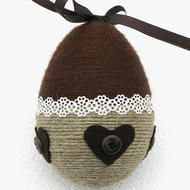 Simple Ester Crafts, Twine Crafts, Valentine Tree, Easter Cross, Easter Projects, Easter Crochet, Egg Art, Egg Decorating, Easter Wreaths