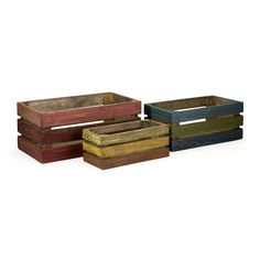 IN STOCK: Crates - Colorful - Set of 3