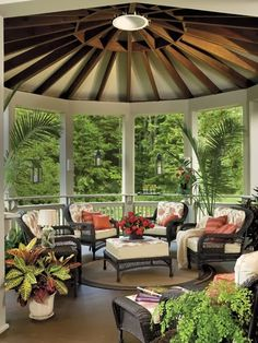 Beautiful porch! i could totally see this attached to the home for summer enjoyment!