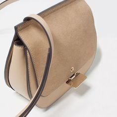 Image 5 of CONTRAST MATERIAL CROSS-BODY BAG from Zara