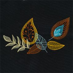 Click here to view larger image Embroidery Works, Hand Embroidery Stitches, Modern Embroidery, Crewel Embroidery, Hand Embroidery Designs, Cross Stitch Embroidery, Embroidery Patterns, Felt Clutch, Uncommon Threads
