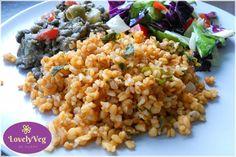 6 szuper bulgur köret - LovelyVeg Fried Rice, Food And Drink, Chinese, Ethnic Recipes, Diet, Bulgur, Nasi Goreng, Stir Fry Rice, Chinese Language