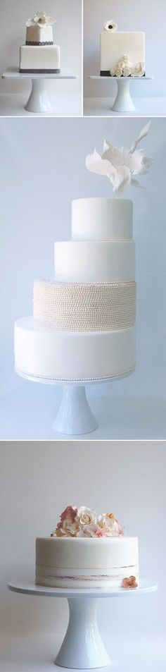 clean and modern wedding cakes from Maggie Austin Cakes, Washington, D.C., via JunebugWeddings.com. Beautiful!