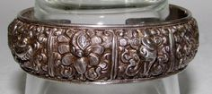 Antique Handmade Chinese Sterling Silver 925 Repousse Bracelet c.1900-1940 Excel #handmade