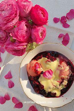 Soupe de fruits rouges au sabayon