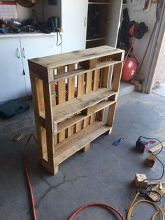 Other (see description) - This bookcase is hand made from pallet wood and if perfect for anyone. Give me an offer! If you have any questions then let me know. For more pallet decor and furniture, come to my profile!