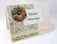 Easter Card  Easter Blessings  Soft Colors  by PrettyByrdDesigns