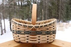 Pinecone Countertop Basket by BlueFrogBasketry on Etsy