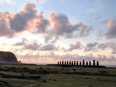 A powerful tsunami in 1960 swept away Ahu Tongariki's 15 moai. They were restored to their current place in the 90s.