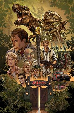 #JurassicPark fan poster created by Kevin McCoy & coloured by Ivan Nunez