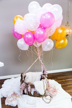 Turn your child's photo into a fantasy world with this DIY hot air balloon prop from @tmemme28! Catch #homeandfamily weekdays at 10/9c on Hallmark Channel!