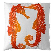 Seahorse Linen Throw Pillow