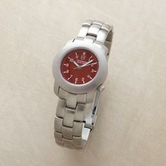 CHERRY RED SWISS ARMY® WATCH. Want this something fierce...and I have for years. $295