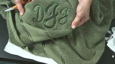 Video tutorial for embroidering terry, plush, and fleece