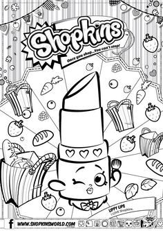 Shopkins Lippy Lips Coloring Pages Printable And Book To Print For Free Find More Online Kids Adults Of