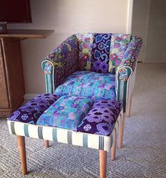 Azalea Bohemian Chic Chair & Stool by Folk Project www.folk-project.com