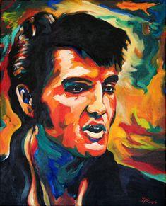 Art Inspired by the King of Rock 'n' Roll, for Elvis Presley's 78th Birthday #illustration #elvis_presley