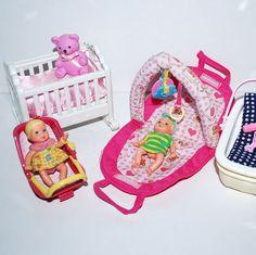 Barbie Happy Family Mama Baby Krissy Kinderwagen Macht