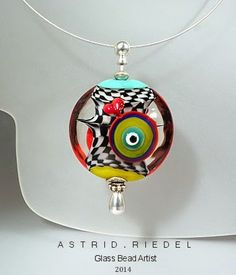 """""""Parrot feathers"""" Blown Hollow beads necklace 