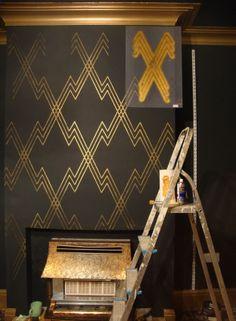 Art deco style stencil decoration
