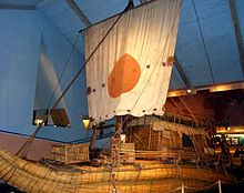 Ra II, built by Thor Heyerdahl as a working model of an Ancient Egyptian boat