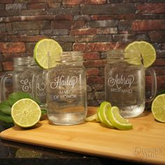 Personalized Drinking Jars with or without by DesignstheLimit