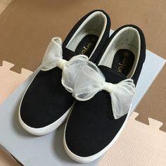 0326a0fd5c2 INGNI(イング)のイング☆チュールリボンスリッポンゆめかわ レディースファッションの靴